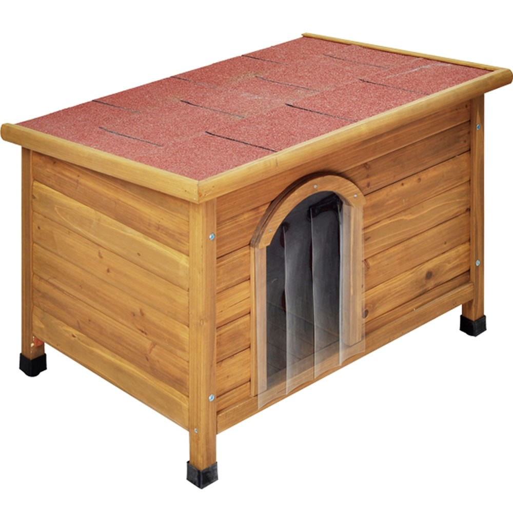 Flat Pack Wooden Dog Kennel With Flat Roof
