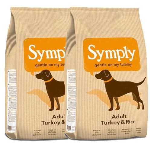 2 x 12kg Symply Multi Buy Turkey & Rice Adult Dry Dog Food