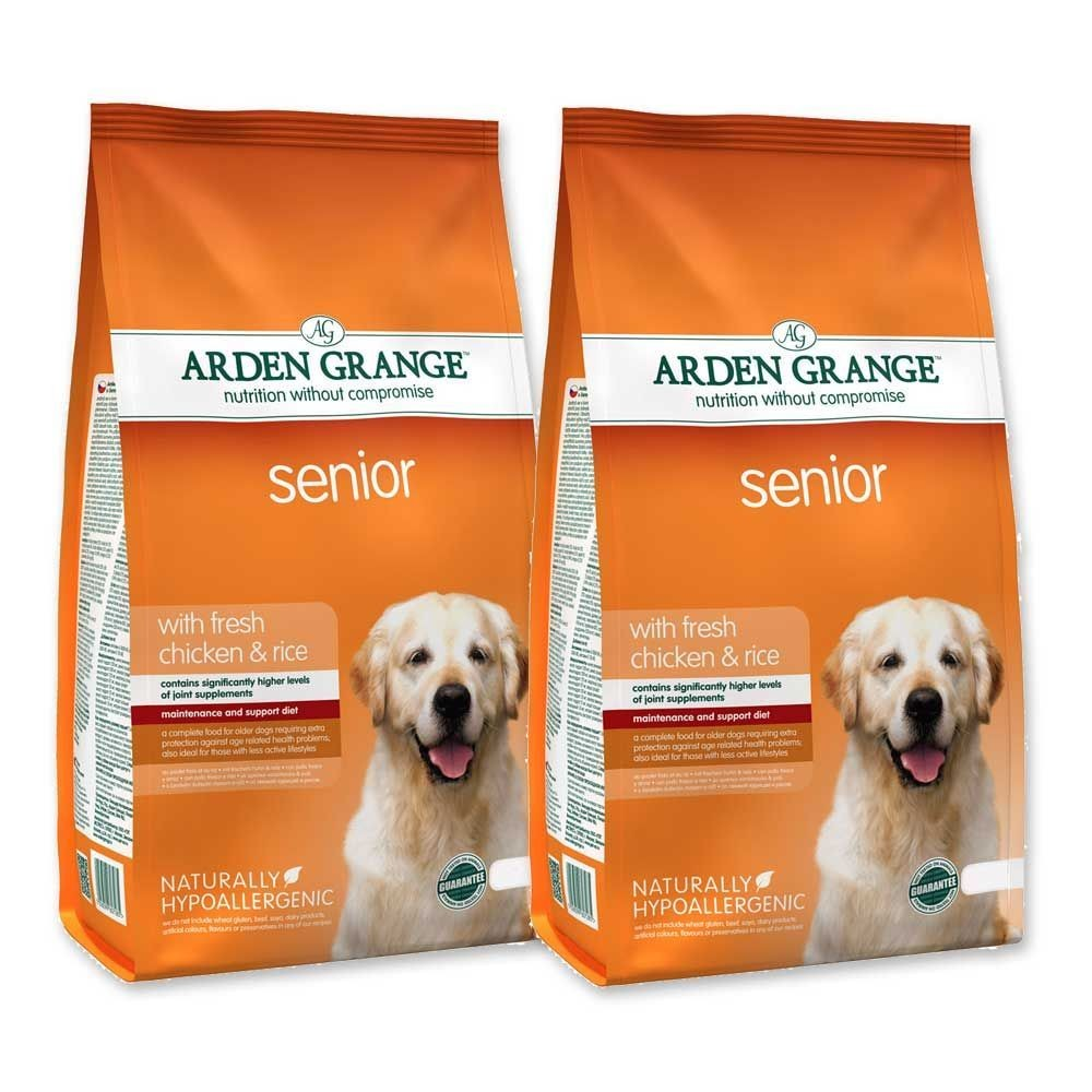 2 x 12kg Arden Grange Multi buy Senior Chicken & Rice Dry Dog Food