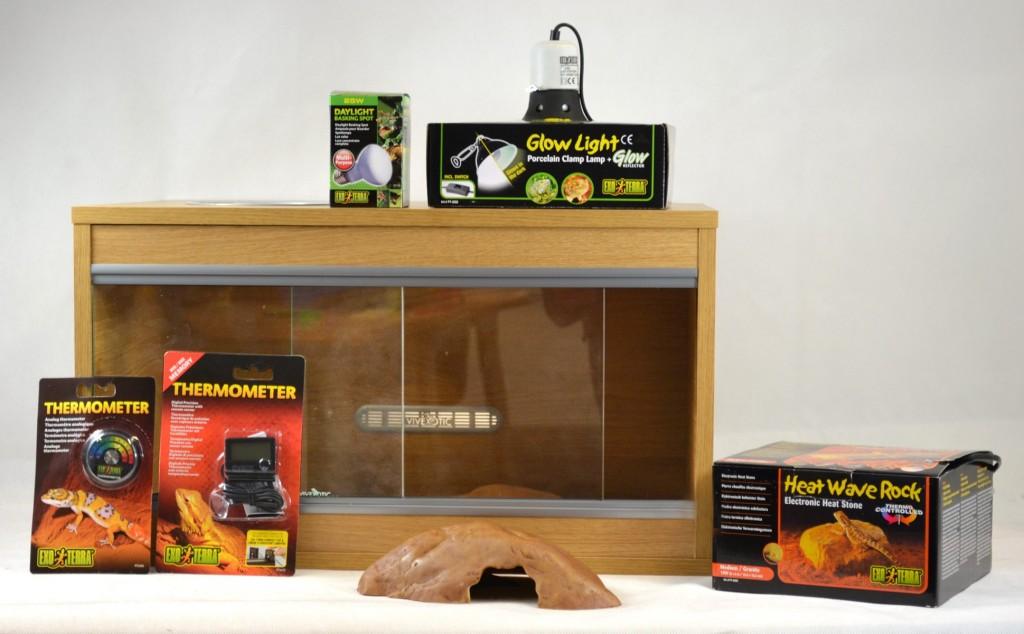 VivExotic Leopard Gecko Starter Kit Vivarium (Ready-Built)