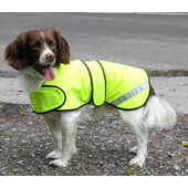 Safety Hi Vis Yellow Dog Coat