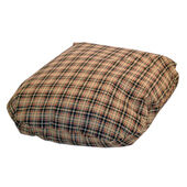 Danish Design Classic Check Cream Fibre Bed Cover