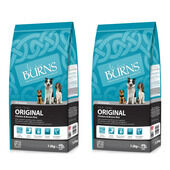 2 x 15kg Burns Original Adult/Senior Chicken & Brown Rice Dog Food Multibuy
