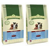 2 x 7.5kg James Wellbeloved Ocean White Fish & Rice Small Breed Adult Dog Food