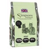 Simpsons Premium 90/10 Chicken, Fish & Turkey Adult Cat Food - 1.5kg