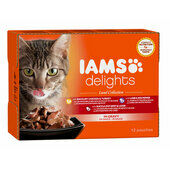 12 x 85g Iams Delights Land Collection In Gravy Wet Cat Food