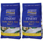 2 x 6kg Fish4dogs Finest Ocean White Fish Small Bite Adult Dog Food Multibuy