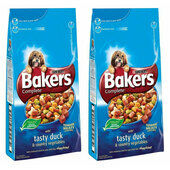2 x 14kg Bakers Complete Duck & Veg Adult Dry Dog Food Multibuy