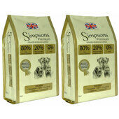 2 x 12kg Simpsons Premium 80/20 Mixed Fish Dry Dog Food Multibuy