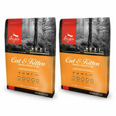 2 x 5.4kg Orijen Cat & Kitten Chicken, Turkey & Fish Cat Food Multibuy