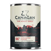 Canagan Country Game Grain-Free Wet Dog Food - 12 x 395g Cans