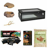 Corn Snake Started Kit - Medium Vivarium Black (24