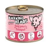 6 x 200g Barking Heads Tiny Paws Fuss Pot Wet Dog Food