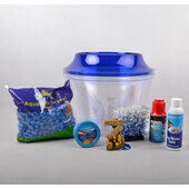 The Pet Express Cold Water Fish Bowl Goldfish Starter Kit - Blue