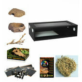 Monkfield Vivarium Corn Snake Starter Kit - Black 30 Inch