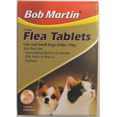 6 x Bob Martin Flea Tablets Cats Small Dogs & Puppies 3 Tablets