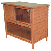 Flat Pack Double Decker Log Lap Hutch 122x61x61cm (48x24x24