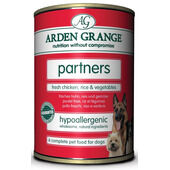 24 x 395g Arden Grange Partners Fresh Chicken, Rice & Vegetables Wet Dog Food