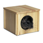 Super Pet Chinchilla Wooden Hut 23x5x20cm (9x2.2x8