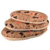 Scatty Cat Basket Liner - Tan