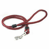 Outhwaites Harlequin Rope Lead Red & Black