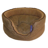 Oval Deluxe Suede Pet Bed