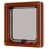 Lockable Cat Flap Brown 16.5x17.4cm