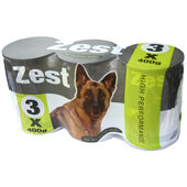 8 x Zest For Working Dogs 3pack 400g