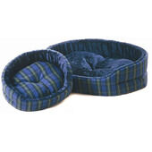 Cosipet Superbed  Blue Check Dog Bed