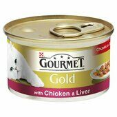 12 x Gourmet Gold Can Chicken & Liver 85g