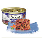 12 x Gourmet Solitaire Can With Beef In Tomato Sauce 85g