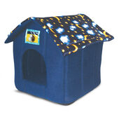 Just 4 Pets House Bed Moon & Stars