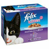 4 x Felix Pouch Kitten Mixed Selection in Jelly 12x100g