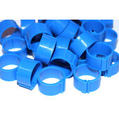 Clic Leg Ring For Adult Hens Extra Light Breed Blue 12mm 100pack