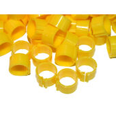 Clic Leg Ring For Adult Hens Extra Light Breed Yellow 12mm 100pack