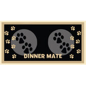 Pet Rebellion Mini Mate Dinner Mat Black 30x40cm (12x16