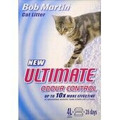 4 x Bob Martin Ultimate Odour Control Non Clumping Cat Litter 4ltr