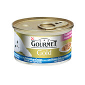 12 x Gourmet Gold Can Double Delicacies Ocean Fish & spinach 85g