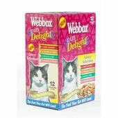 4 x Webbox Cats Delight Pouches Gravy Selection 12x100g