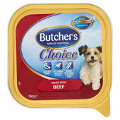 12 x Butchers Alutray Choice With Beef 150g