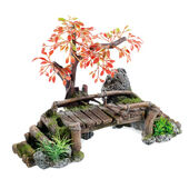 Classic Magic Of The Orient Wooden Bridge & Plants 320mm