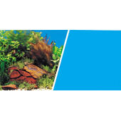 Marina Dbl Sided Background Plants & Rocks/light Blue 46cmx25ft