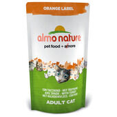 5 x Almo Nature Orange Label Cat Turkey 750g