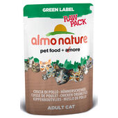 24 x Almo Nature Green Label Cat Raw Pack Chicken Drumstick 55g