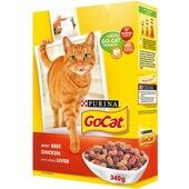 6 x Go-cat Complete Adult Beef Chicken & Liver 340g