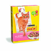 5 x Go-cat Complete Adult Salmon & Veg 825g