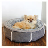 40 Winks Deep Plush Donut Bed Grey