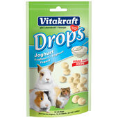 9 x Vitakraft Small Animal Sugar Free Yoghurt Drops 75g