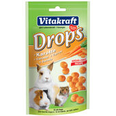 9 x Vitakraft Small Animal Sugar Free Carrot Drops 75g
