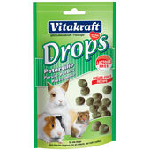 9 x Vitakraft Small Animal Sugar & Lactose Free Parsley Drops 75g